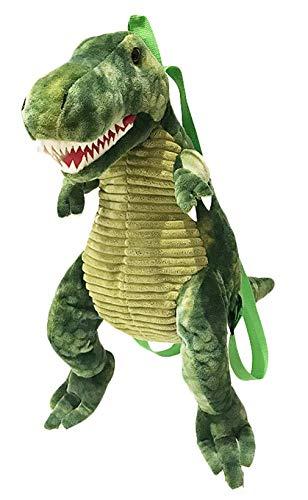 GEMVIE Mochila Cartoon Dragón para Niños Niñas Bolsa de Doble Correas de Hombro Peluche para Escuela Viajes Excursión Talla Única Dinosaurio Verde