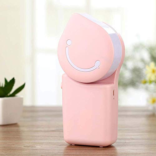LEIXIN Air Conditioner Ladehandklimaanlagen-Ventilator-Smiley Charging USB Minihandventilator cool (Farbe: Pink) (Color : Pink)