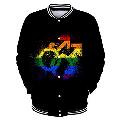 3D Gedruckte LGBT Jacke Männer Frauen Sweatshirt 2019 Modisch Lässig Heiß LGBT Baseball Jacken Regenbogen Kleidung Schwule Mode Männer Frauen Hoodie Sweatshirts Langarm 3D Hoodies Jacken Tops