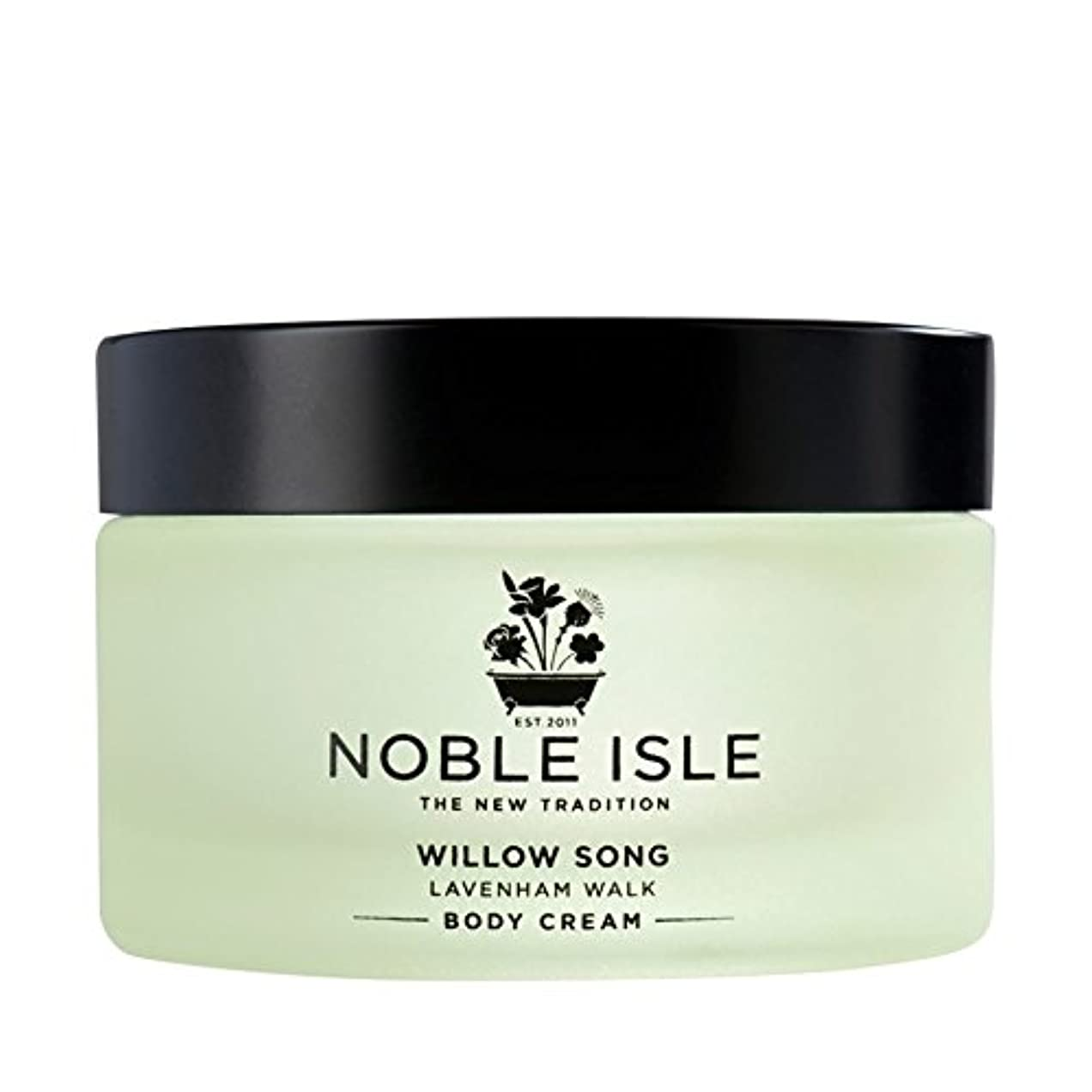 チラチラするラグ中国高貴な島柳の歌ラヴァンハム徒歩ボディクリーム170ミリリットル x2 - Noble Isle Willow Song Lavenham Walk Body Cream 170ml (Pack of 2) [並行輸入品]