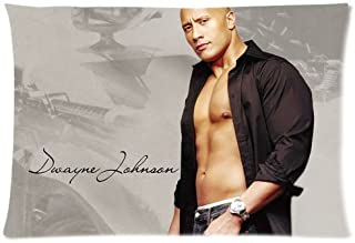 Dwayne Johnson The Rock Pillowcase Custom Throw Pillow cover 20x30 Zippered Pillow Case Two Sides Picture Printed Soft Cotton Comfortable