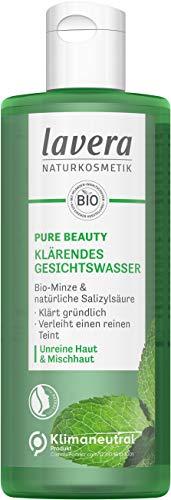 lavera, PURE BEAUTY Klärendes Gesichtswasser für ein geklärtes Hautgefühl porentiefe Reinigung Naturkosmetik vegan 200ml, transparent