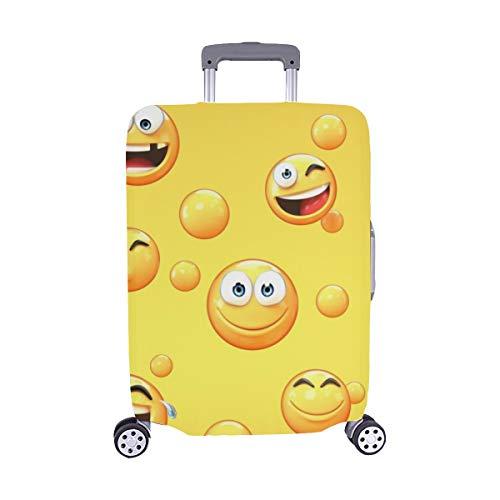 Varios Emojis en Amarillo 3 D Stock de ilustración Patrón Spandex Maleta de Viaje Maleta Protectora de Viaje Cubierta Protectora para de Maleta 28.5 X 20.5 Inch