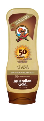 Australian gold Sunscreen spf50 lotion with bronzer 237 ml 1 Unidad 240 g