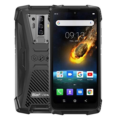 Zweifacher SIM-Netzwerk: 4G, 6,49 Zoll Wassertropfen Scr Netzwerk: 4G (schwarz), NFC, OTG, 5,84 Zoll Android 9.0 MTK6757 Helio P25 Octa-Core bis zu 2,6 GHz, Fingerabdruck-Identifizierung, 5580mAh Batt