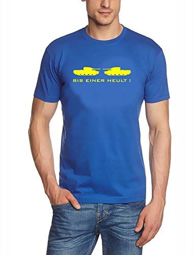 Coole Fun T-Shirts Bis Einer heult T-Shirt Fun T-Shirts, Royalblau/gelb, Grösse: M