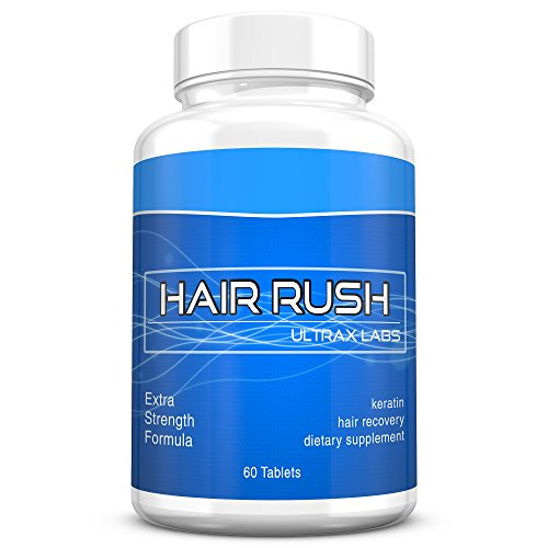 Ultrax Labs Hair Rush DHT Blocking Hair Loss Maxx Hair Growth Nutrient Solubilized Keratin Supplement