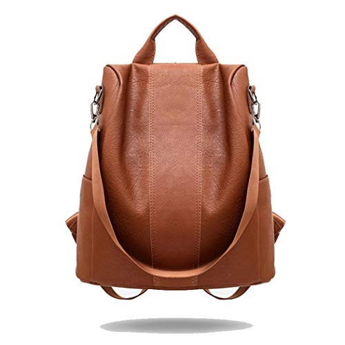 Women Backpack Synthetic Leather Adjustable Straps Large Capacity Shoulder Bag