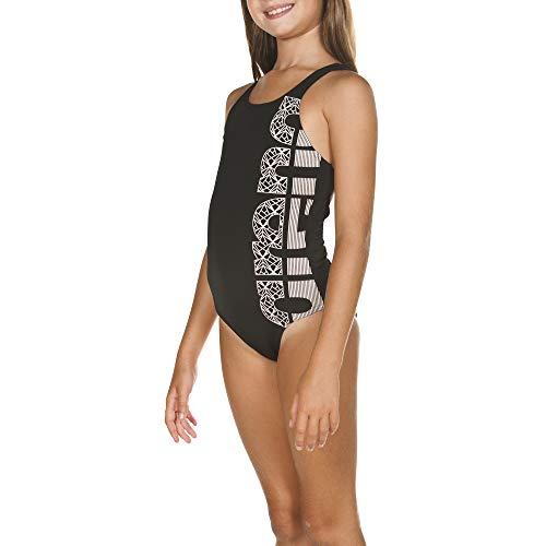 ARENA Mädchen Sport Badeanzug Equilibrium, Black-White, 164