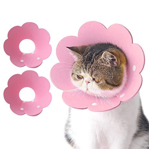 BESYLO Halskrause Hund, 2PCS Halskrause Katzen,After zur Genesung nach Einer Operation oder Wunde bei Hunden und Katzen (rosa)