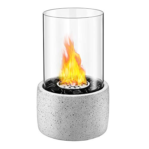 Tabletop Fire Bowl Pot, Indoor Outdoor Portable Tabletop Fireplace–Clean-Burning Bio Ethanol Ventless Fire Pit for Birthday, Party and Dining