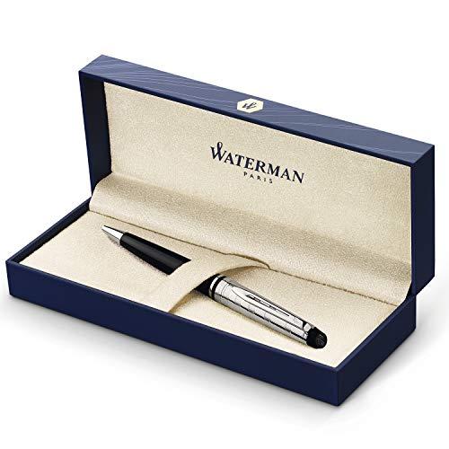 Waterman Expert Penna a Sfera Deluxe Black, Confezione Regalo