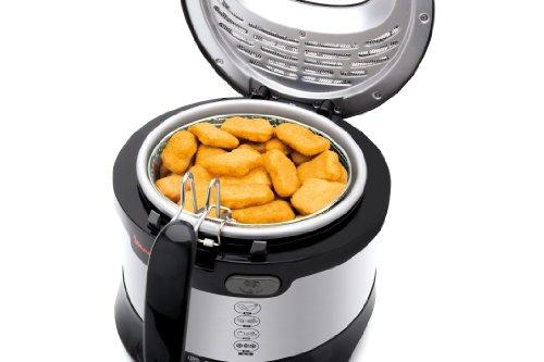 Moulinex AF 133D Fritteuse Uno M / 1600 Watt / wärmeisoliert / 1 kg Fassungsvermögen, edelstahl-schwarz - 6
