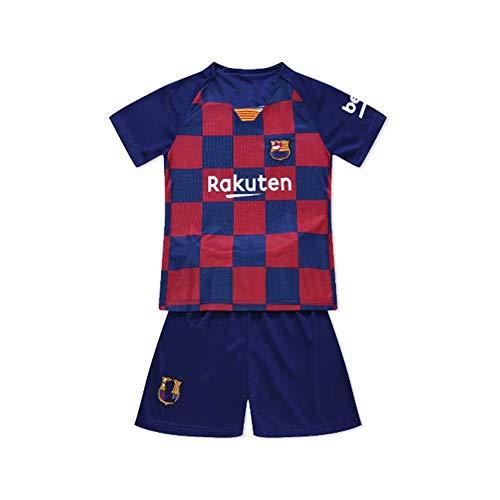 PAOFU-Conjunto de Jersey de Fútbol Fútbol Club Barcelona para Niños Adolescentes,Azul,24