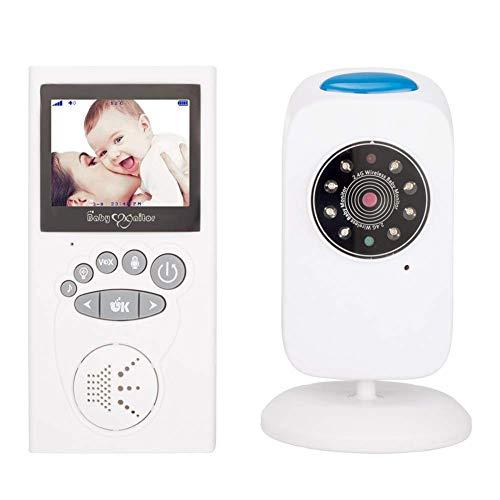 SWEET Caméra Moniteur pour Bébé avec WiFi 8 Del Infrarouges avec Mode D'économie D'énergie VOX avec Réduction Automatique De La Luminosité Et Fonction De Minuterie