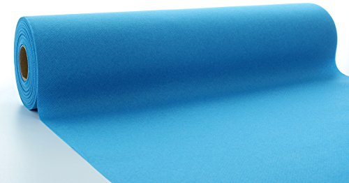 Sovie HORECA Linclass® Airlaid Tischläufer 40 cm x 24 m   Tischdecken-Rolle stoffähnlich   praktische Einmal-Tischdecke für Hochzeit oder Partys   Aqua-Blau