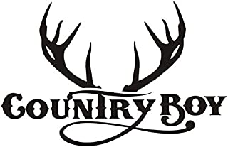 Country Boy v3 Decal Sticker - Peel and Stick Sticker Graphic - - Auto, Wall, Laptop, Cell, Truck Sticker for Windows, Cars, Trucks