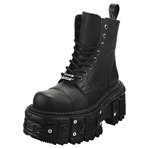 New Rock M-TANK083-C1 Stiefelletten/Boots Femmes Schwarz - 39 - Boots