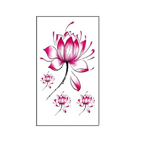 tzxdbh 10pcs-Lotus-Pflaumen-Schwalben-Schmetterlings-kleine frische Blumen imprägniern Tätowierungs-Aufkleber 10pcs-60 * 105mm