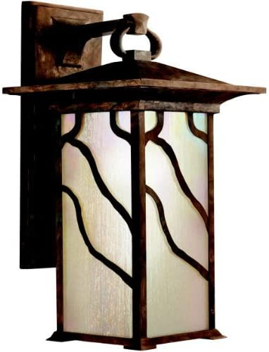 Kichler 9031dco Morris Cast Aluminum Outdoor Wall Sconce Lighting 100 Watts Distressed Copper Wall Porch Lights Amazon Com