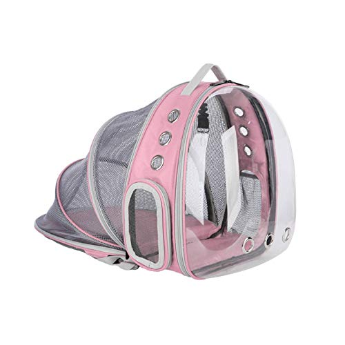 N-B Transparent Cat, Dog And Rabbit Pet Backpack, Multifunctional Foldable Space Capsule Pet Bag For Outing Portable Dog Bag, Expandable Pet Backpack