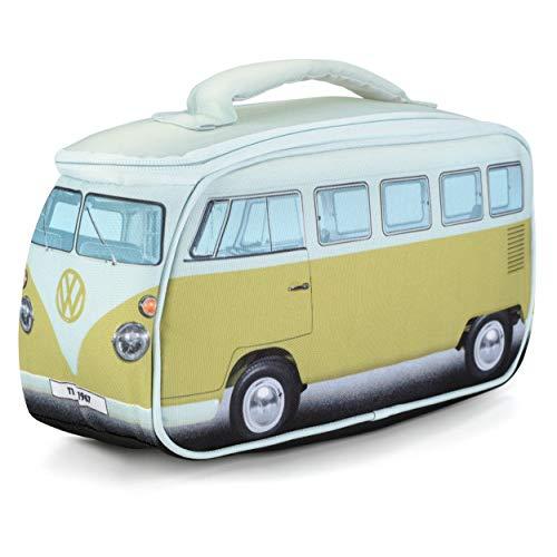 Volkswagen VW-Lunchbag, VW Bulli T1 Samba, Unisex für Erwachsene und Kinder, VW-Geschenke, Grün