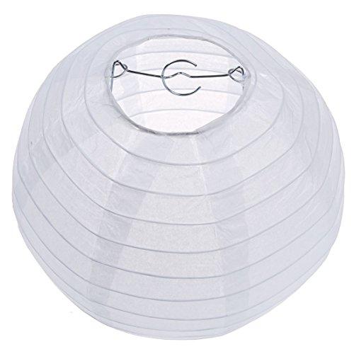 TOOGOO(R) Blanco chino / japones Linterna de papel / Lampara 8 'Diametro