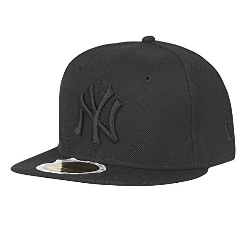 New Era 59Fifty Kids Cap - Black ON Black NY Yankees - 6 5/8