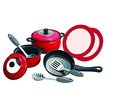 Bavaria Home Style Collection Kinder Kochtöpfe / Töpfe / Pfanne / 2 Teller / Wender / Spaghetti Heber / ideal für die Spielküche