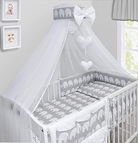 Baby Canopy Drape Mosquito NET with Holder to FIT COT & COT Bed (Elephants...
