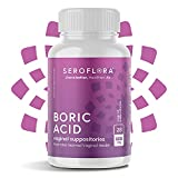 Seroflora Boric Acid Vaginal Suppositories 600 mg 28 Pack - Boric Acid Pills for Women - Feminine Health and Wellness Essentials - Vaginal Health pH Balance for Women - Feminine Balance Complex