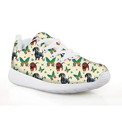 Chaqlin - Zapatos de malla para niños y niñas, botas de otoño, invierno, cálidas, para correr, correr, con patrón de animales, multicolor, color Amarillo, talla 31 EU