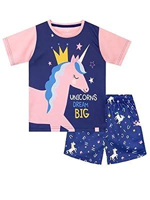 Harry Bear Pijamas Corto para Niñas Unicornio Azul 5-6 Años