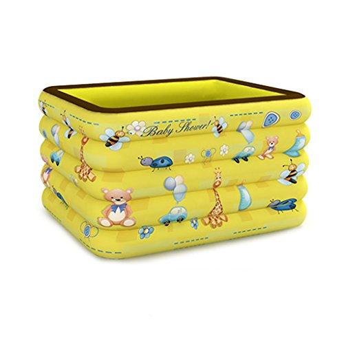 Les enfants jaune anti-glissante piscine grande multi-taille baignoire pliante gonflable, baignoire portable jaune Les plus épais baignoire pliable voyage air douche bassin baignoire-siège