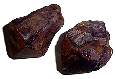 Cacoxenite Raw Super 7 / Sacred 7 AA Grade Melodies Stone Crystal Healing Gemstone Natural Rough Stone Specimen - 2pc Set