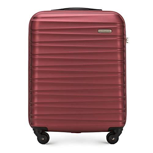 WITTCHEN Koffer – Handgepäck | hartschalen, Material: ABS | hochwertiger und Stabiler | Rot | 34 L | 54x20x38 cm