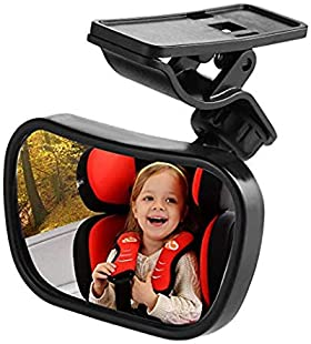 Vextronic Baby Car Mirror for Back Seat, Rear View Facing Back Seat Mirror Child Safety Rearview 360 Degree Adjustabl...