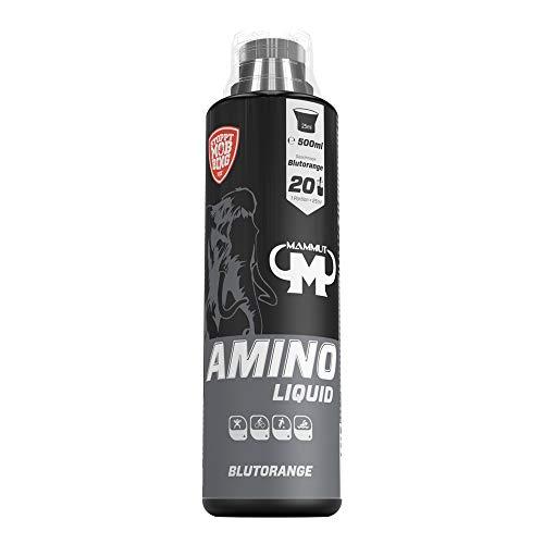 Mammut Amino Liquid, Blutorange Geschmack, 500 ml, 5er Pack (5 x 500 ml)