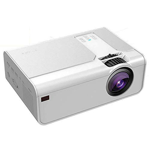 JCSW Proyector WiFi, Mini Proyector Portátil Soporte Full HD 1080P, 7000 Lúmenes Proyectores Home Cinema, Compatible con TV Stick, PS4, USB, HDMI, SD, AV, White, Q084JY (Size : AI Smart Version)
