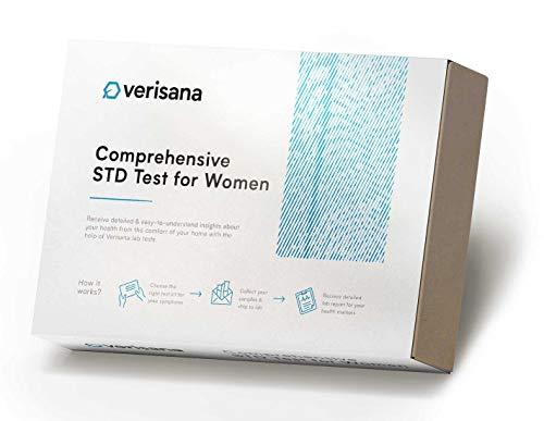 Comprehensive STD Test for Women - Check for HIV, Hepatitis C, Syphilis, Herpes Simplex Type 2, Chlamydia, Gonorrhea, Trichomoniasis - Verisana