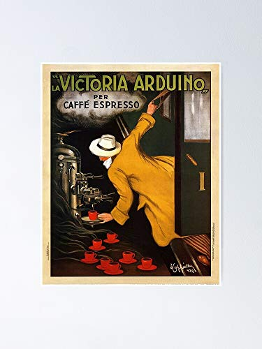 AZSTEEL Vintage1922 Victoria Arduino Caffé Espresso Poster By Leonetto Cappiello Artwork For Prints Posters Tshirts Poster 11.7 * 16.5