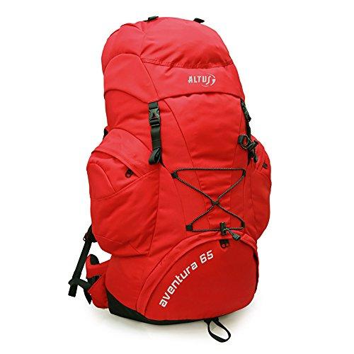 ALTUS Aventura Trekking Sac à Dos – Rouge, 65 l