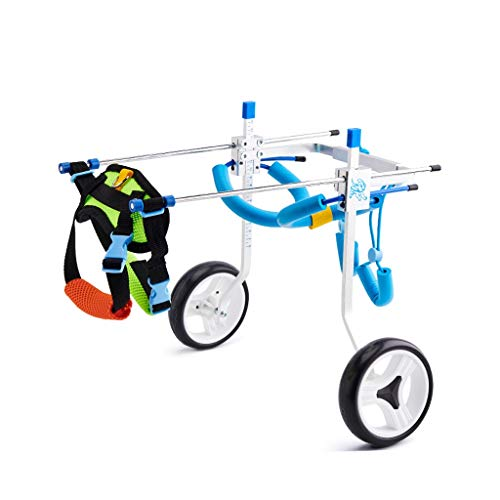 Hunderollstuhl, do regulowanych wózków dla zwierząt domowych / kotów, hunderollstuhl, rehabilitacja, weterynarz, dopuszczony wózek inwalidzki do tylnych nóg (rozmiar: Xs)