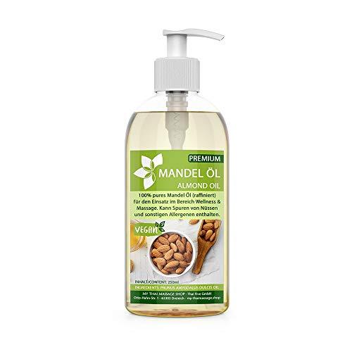 Kitama Mandelöl 100% rein 250ml Naturkosmetik - sanftes Baby-Öl, natürliches Pflege-Öl für Haut & Haar - Ideal für Aromatherapie als Basisöl Massageöl