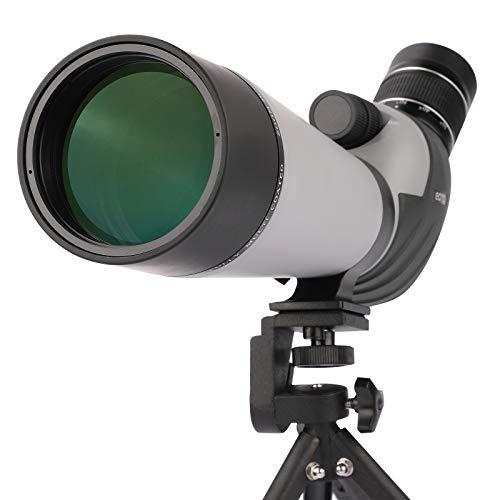 Eono by Amazon - 20-60x80 Telescopio Terrestre con trípode - El Alcance Impermeable más Nuevo para Tiro al Blanco Caza Observación de Aves Paisaje de Vida Silvestre