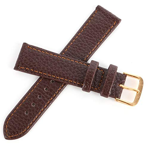 HNGM Correas para Relojes de Hombre Brown Brown Strap Soft Rayas Rayas Strap Pin Buckle 12mm14mm16mm18mm20mm22mm (Band Color : Brown, Band Width : 14mm)