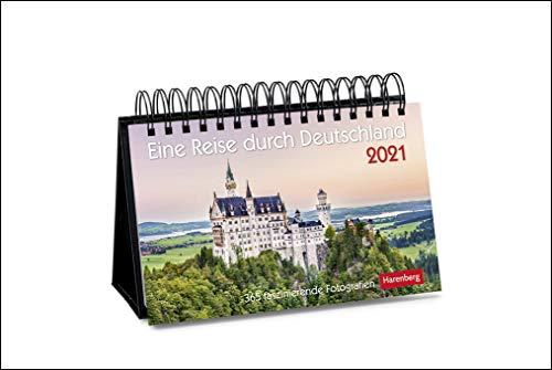 Preisvergleich Produktbild Eine Reise durch Deutschland Premiumkalender 2021 - Tagesabreißkalender zum Aufstellen - Tischkalender mit hochwertigen Farbfotografien - in ... 23 x 17 cm: 365 faszinierende Fotografien