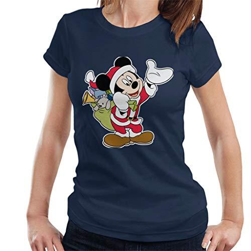 Disney Kerst Mickey Mouse Kerstman pak vrouwen T-Shirt