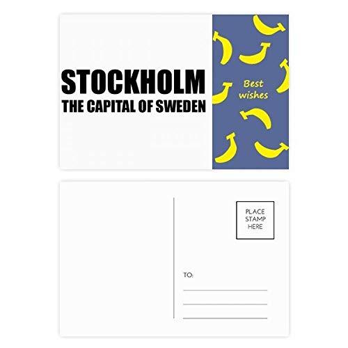 DIYthinker Stockholm die Hauptstadt von Schweden Banana Postkartenset dankt Karte Mailing Side 20pcs 5.7 Zoll x 3.8 Zoll Mehrfarbig