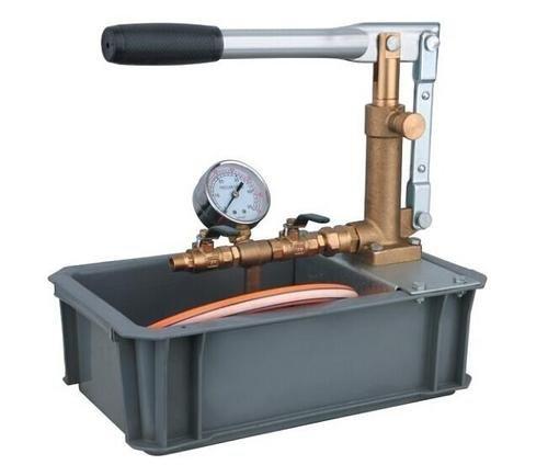 Gowe tuyau de Pompe de Test de pression 50 kg/cm2 avec robinet en laiton, acier picuture